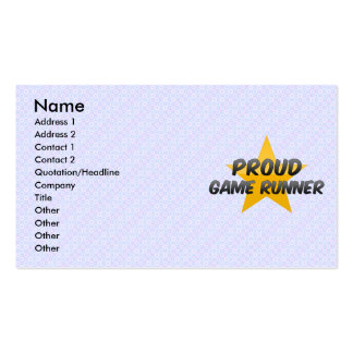 Proud Game Runner Business Card