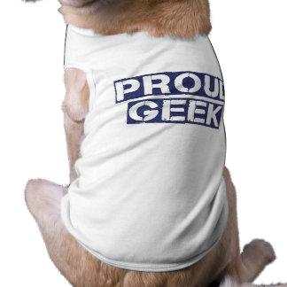 Proud Geek Sleeveless Dog Shirt