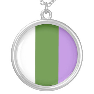 Proud Genderqueer Round Pendant Necklace