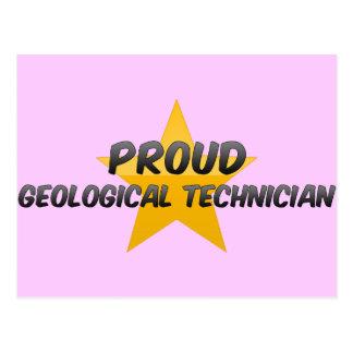 Proud Geological Technician Post Card