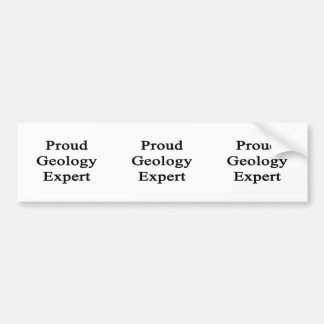Proud Geology Expert Bumper Stickers