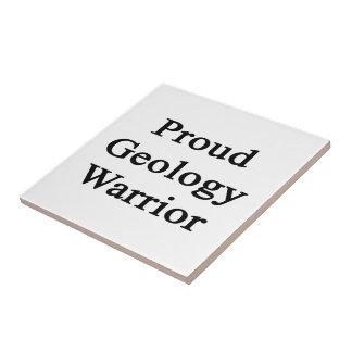 Proud Geology Warrior Ceramic Tile