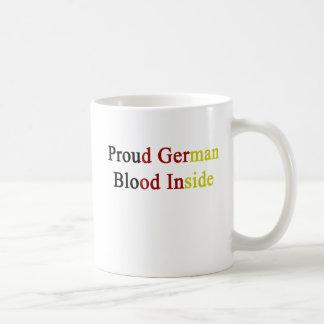 Proud German Blood Inside Basic White Mug