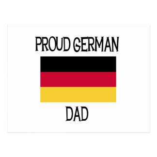 Proud German Dad Postcard