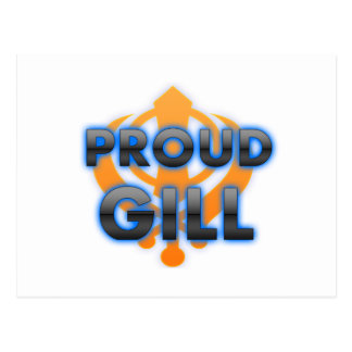 Proud Gill, Gill pride Postcard