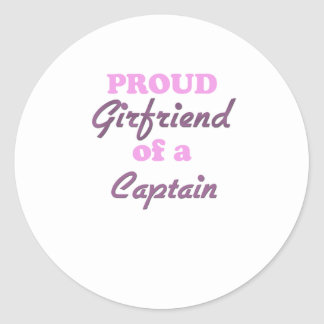 Proud Girlfriend of a Captain Round Sticker