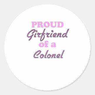Proud Girlfriend of a Colonel Round Sticker