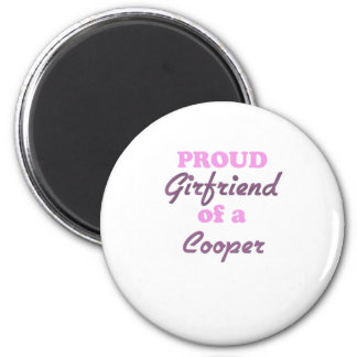 Proud Girlfriend of a Cooper 6 Cm Round Magnet