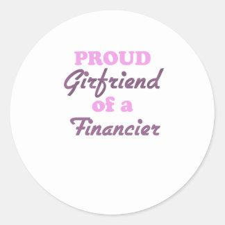 Proud Girlfriend of a Financier Sticker