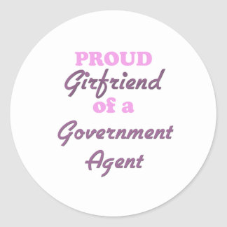 Proud Girlfriend of a Government Agent Round Sticker