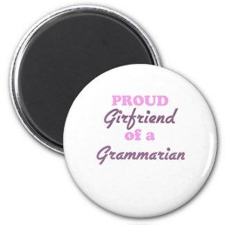 Proud Girlfriend of a Grammarian 6 Cm Round Magnet