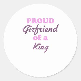 Proud Girlfriend of a King Round Sticker
