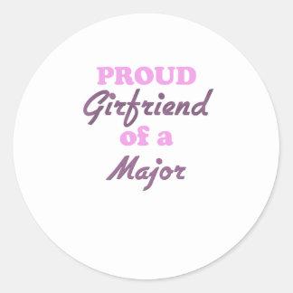 Proud Girlfriend of a Major Round Sticker