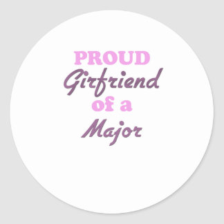 Proud Girlfriend of a Major Round Stickers