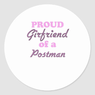 Proud Girlfriend of a Postman Classic Round Sticker