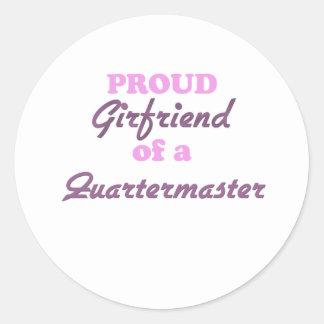 Proud Girlfriend of a Quartermaster Round Sticker
