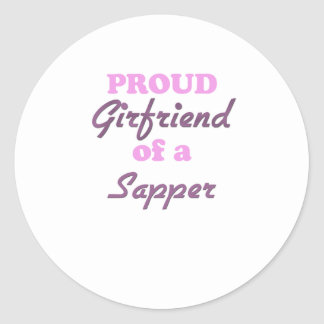 Proud Girlfriend of a Sapper Stickers