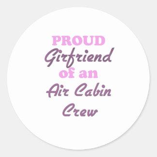 Proud Girlfriend of an Air Cabin Crew Round Sticker