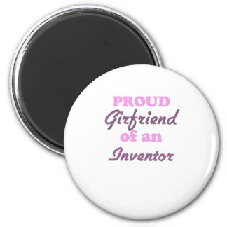 Proud Girlfriend of an Inventor 6 Cm Round Magnet
