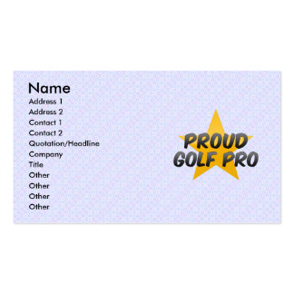 Proud Golf Pro Pack Of Standard Business Cards