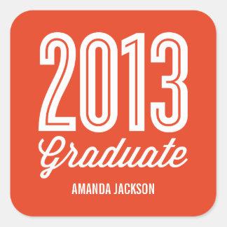 Proud Grad Graduation Favor Stickers Square Sticker