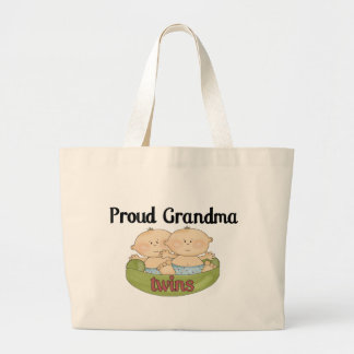 Proud Grand of Twins Large Tote Bag