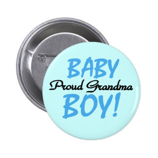 Proud Grandma Baby Boy T shirts and Gifts 6 Cm Round Badge
