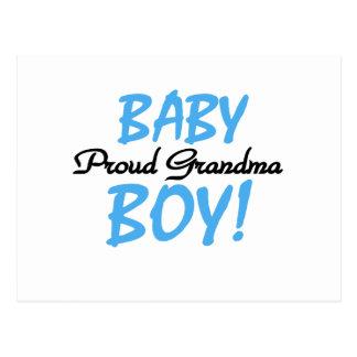 Proud Grandma Baby Boy T shirts and Gifts Postcard