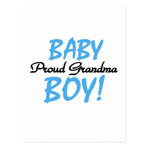 Proud Grandma Baby Boy T shirts and Gifts Post Card