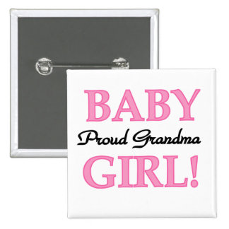 Proud Grandma Baby Girl Tshirts and Gifts 15 Cm Square Badge