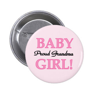 Proud Grandma Baby Girl Tshirts and Gifts 6 Cm Round Badge