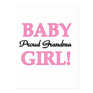 Proud Grandma Baby Girl Tshirts and Gifts Postcard