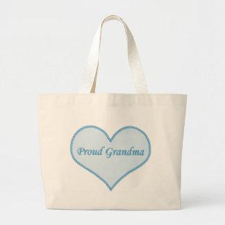 Proud Grandma Bag, Blue Large Tote Bag