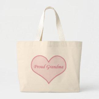 Proud Grandma Bag, Pink Large Tote Bag