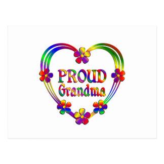 Proud Grandma Heart Postcard
