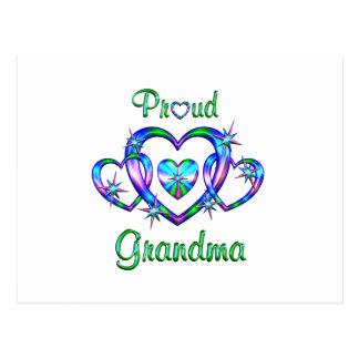 Proud Grandma Hearts Postcard