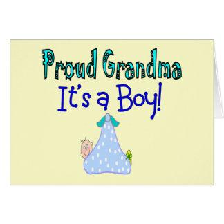 "Proud Grandma, ""It's a Boy!"" Gifts Greeting Card"