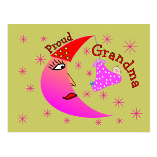 Proud Grandma New Baby Girl Gifts Postcard