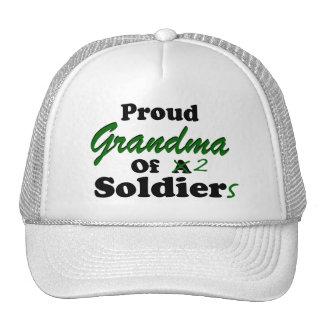Proud Grandma Of 2 Soldiers Hat