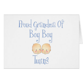Proud Grandma of Boy Twins Card