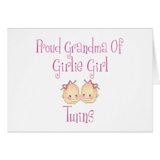 Proud Grandma of Girl Twins Card