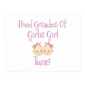 Proud Grandma of Girl Twins Postcard
