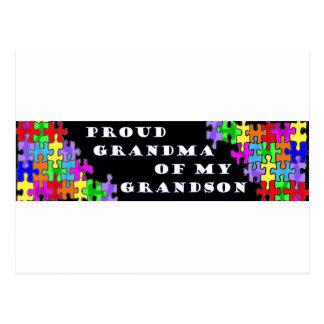 Proud Grandma Of My Grandson Postcard