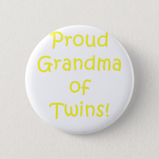 Proud Grandma of Twins 6 Cm Round Badge
