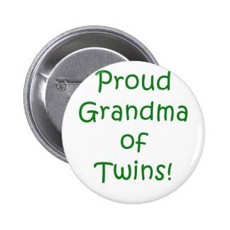 Proud Grandma of Twins 6 Cm Round Badge