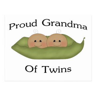 Proud Grandma Of Twins Postcard
