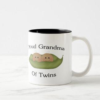 Proud Grandma Of Twins Two-Tone Mug