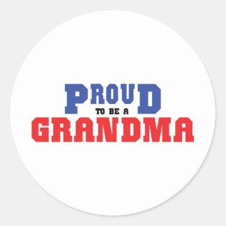 Proud Grandma Round Sticker