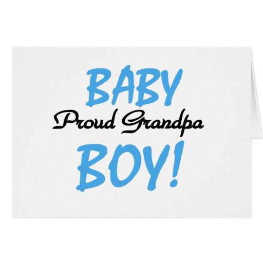 Proud Grandpa Baby Boy Tshirts and Gifts Greeting Card