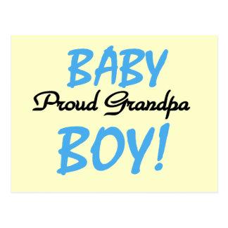 Proud Grandpa Baby Boy Tshirts and Gifts Postcard